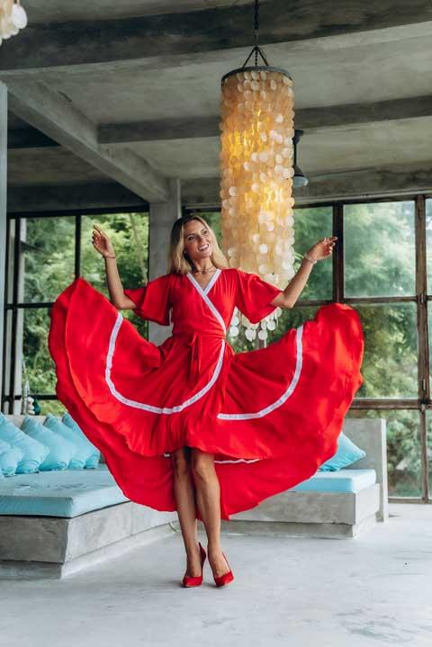Платье красного цвета купить онлайн