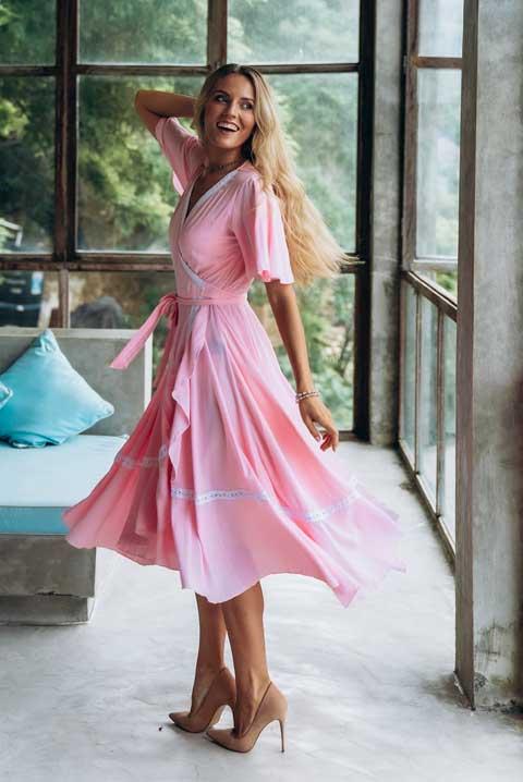 Платье Савитри розовый зефир
