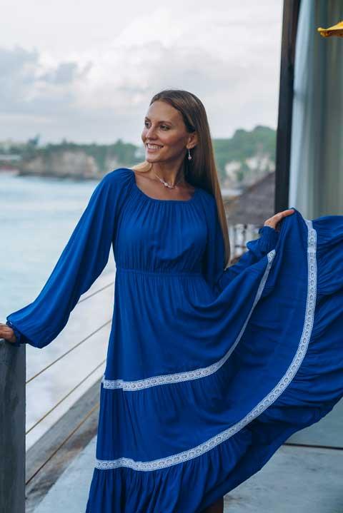 Лакшми миди королевский синий | Olga Valyaeva Dress