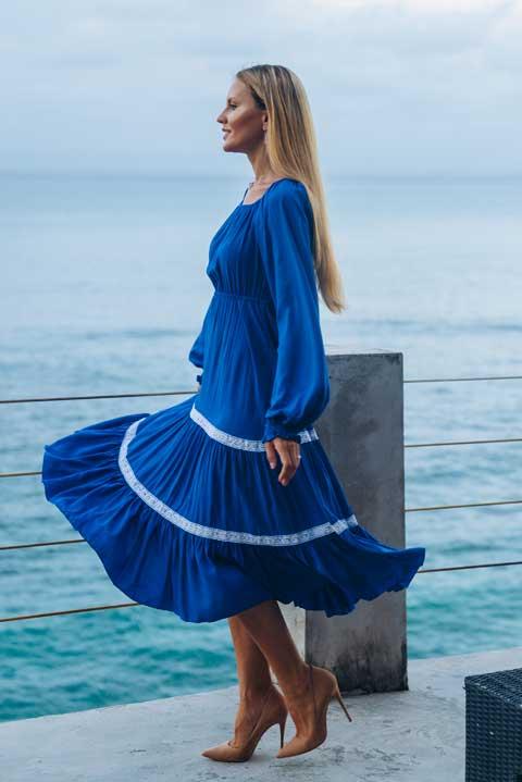 Синее платье Лакшми от Ольги Валяевой