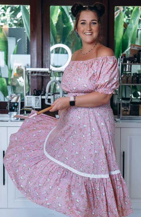 Купить платье для кормящих розовые розочки