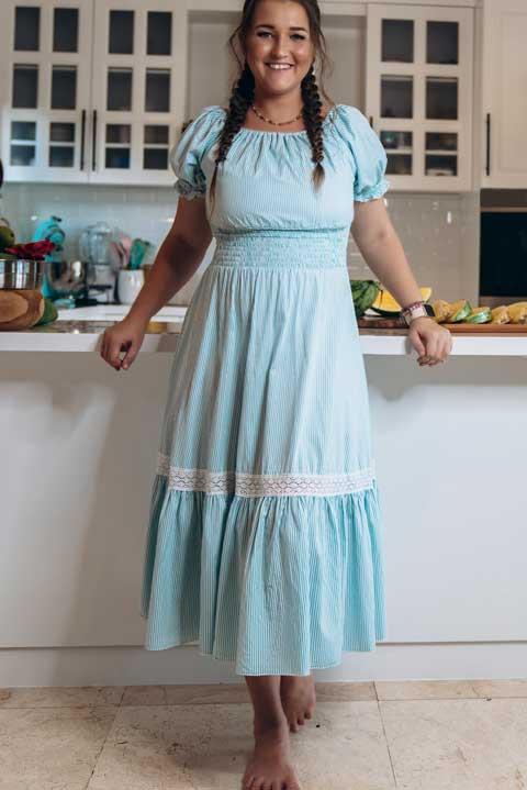 Купить платье в мелкую полоску
