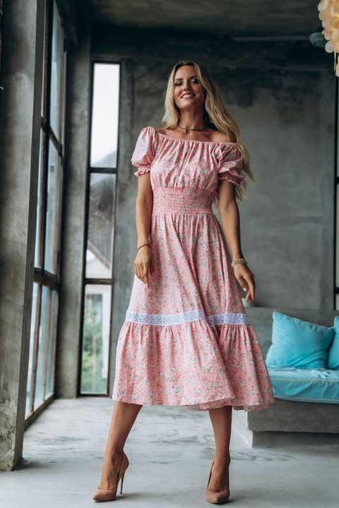 Платье миди для высоких