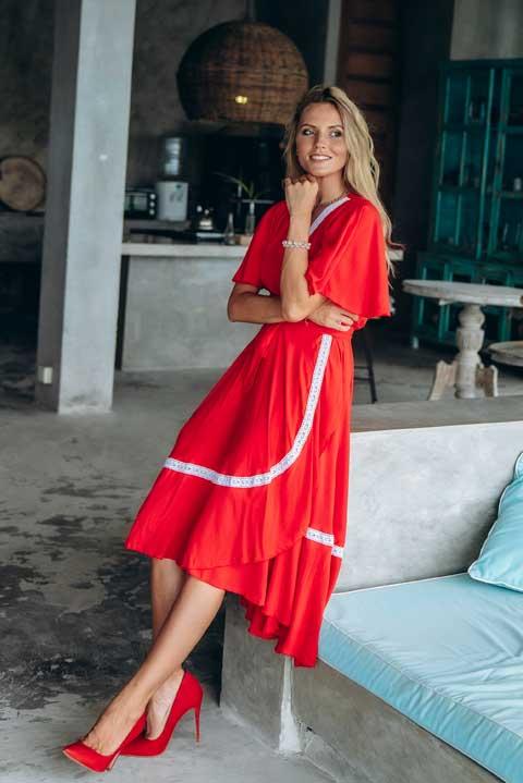 Купить красное платье Савитри