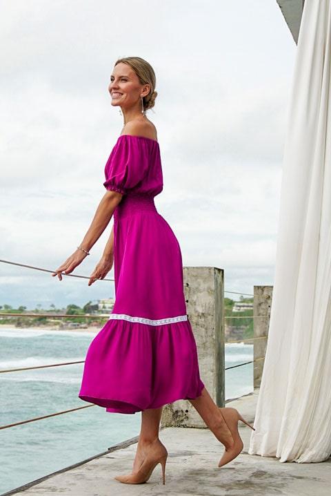Купить платье Парвати ягода от Ольги Валяевой