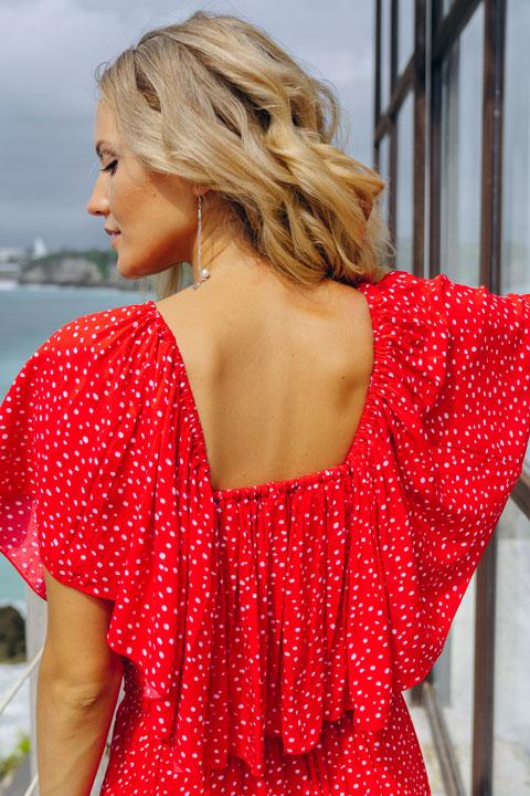 Красное платье Гаури от Ольги Валяевой