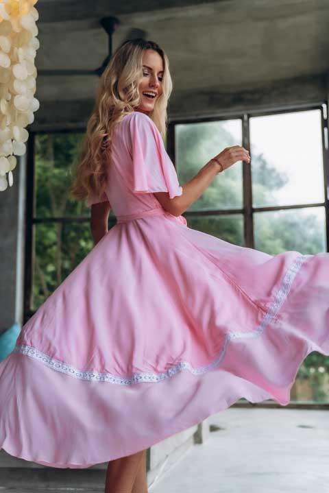 Купить платье вискоза розовое